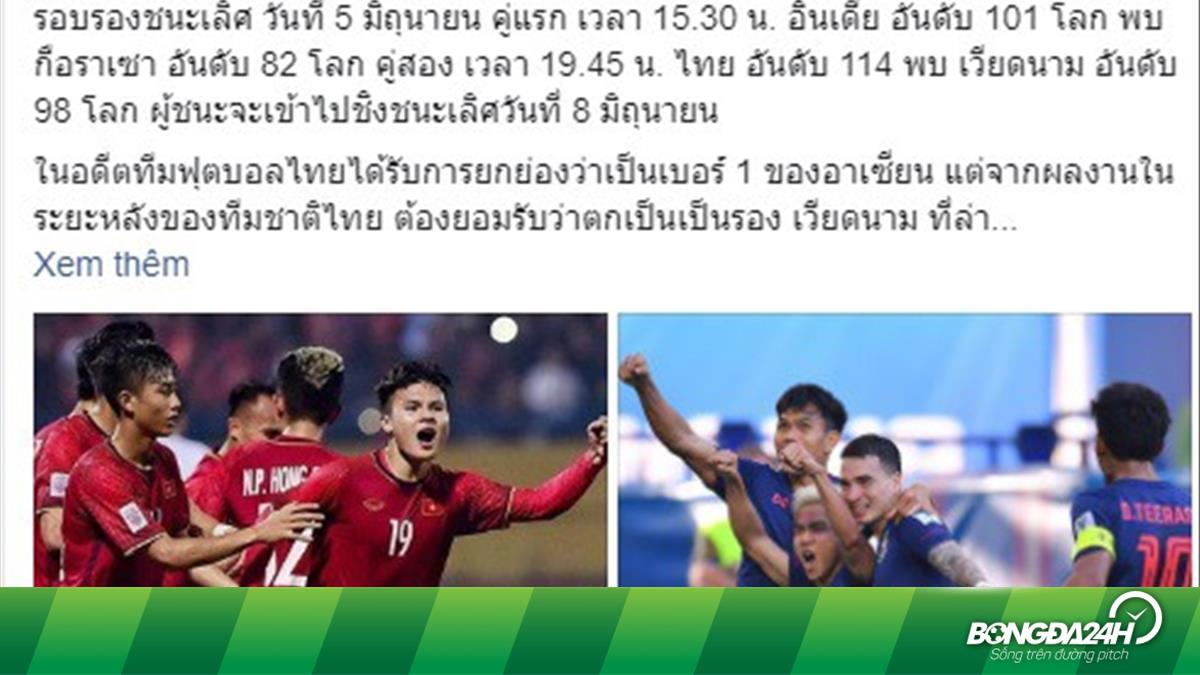 Báo Thái Lan tiết lộ thông tin bất ngờ về trận đấu Việt Nam vs Thái Lan tại Kings Cup 2019