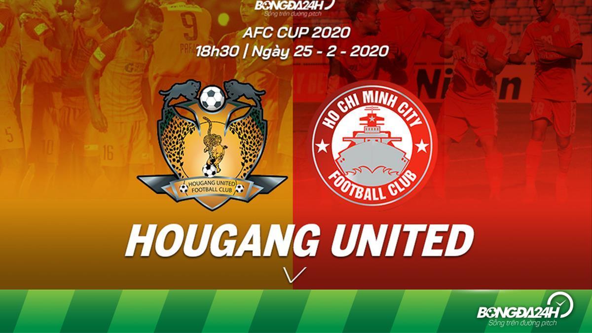 Kết quả Hougang vs TPHCM trận đấu vòng bảng AFC Cup 2020