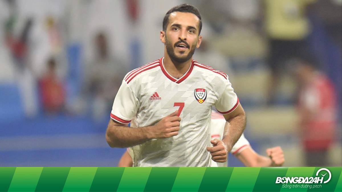 Ali Mabkhout trở lại đội hình UAE trước thềm vòng loại World Cup 2022