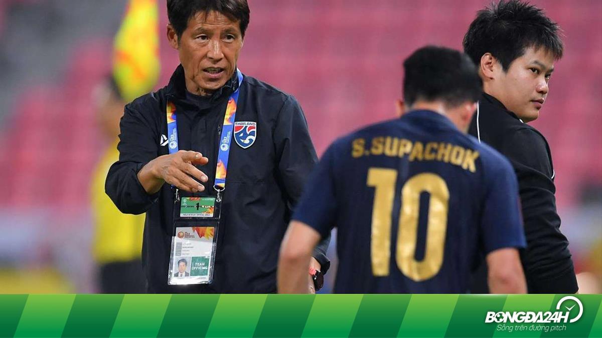 HLV Nishino nhận tin vui từ đội tuyển Thái Lan