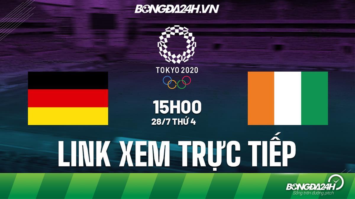 Trực tiếp Đức vs Bờ Biển Ngà link xem bóng đá Nam Olympic Tokyo 2020