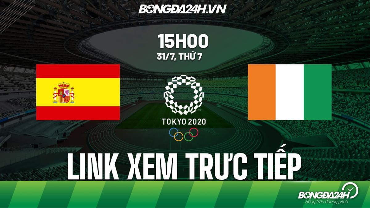 Link xem trực tiếp Tây Ban Nha vs Bờ Biển Ngà tứ kết bóng đá Olympic VTV5
