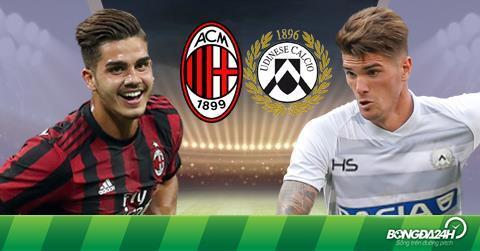 Nhận định AC Milan vs Udinese 20h00 ngày 17/9 (Serie A 2017/18)