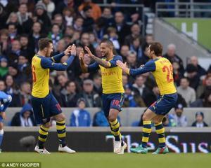 Brighton 2-3 Arsenal: Thắng nghẹt thở, nhà ĐKVĐ toát mồ hôi lọt vào vòng 5 cúp FA