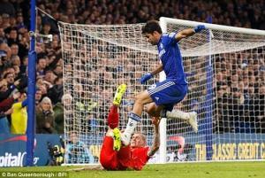 Thầy Mourinho bênh chằm chằm thói chơi bẩn của Diego Costa