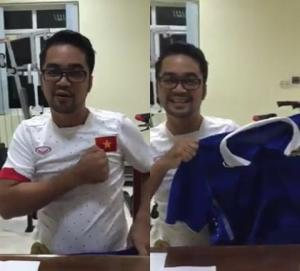 Fan Thái Lan gây sốt với màn mặc áo đấu và hát Quốc ca Việt Nam