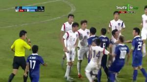 Đội U19 Hàn Quốc chơi thô bạo với U19 Thái Lan ở vòng loại giải châu Á