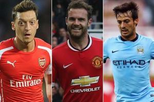 Top 10 cầu thủ kiến tạo hay nhất Premier League 2015/16