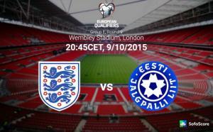 TRỰC TIẾP VÒNG LOẠI EURO 2016: Trận đấu Anh vs Estonia 01h45 ngày 10/10