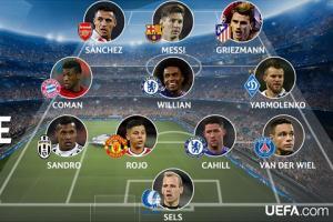 ĐHTB lượt đấu thứ 5 Champions League: Có Messi, không Ronaldo