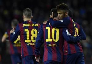 Cặp đôi vàng Messi - Neymar chung tay bắn hạ Tầu ngầm vàng