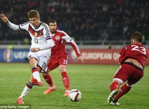 Video bàn thắng: Georgia 0-2 Đức (Vòng loại Euro 2016)