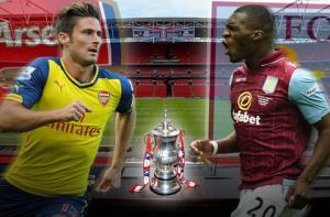 TRỰC TIẾP: Arsenal vs Aston Villa 23h30 ngày 30/5 chung kết FA Cup Anh 2014-2015