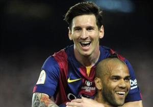 Messi lên tiếng bảo kê cho tương lai của Alves tại Barca