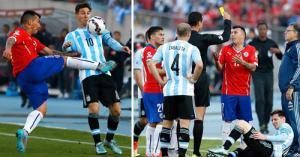 Thiên tài Messi bị đồ tể Medel đá kungfu tung người
