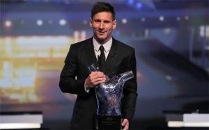 Messi nói gì khi trở thành cầu thủ xuất sắc nhất châu Âu 2014/2015?