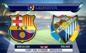 TRỰC TIẾP Barcelona 0-0 Malaga (Hiệp 1): Suarez bị từ chối một bàn thắng