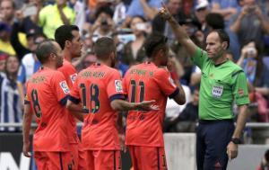 Lộ diện trọng tài bắt chính đại chiến Atletico vs Barcelona