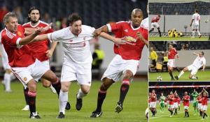 Video clip bàn thắng: Huyền thoại M.U 4-2 Huyền thoại Liverpool