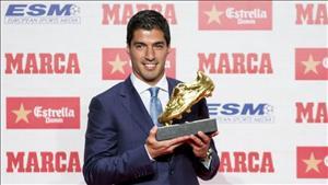 Không hot như Cris Ronaldo, Luis Suarez chẳng mơ quả bóng vàng