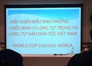 HLV U19 Việt Nam khơi gợi lòng tự hào dân tộc cho học trò trước trận gặp Bahrain