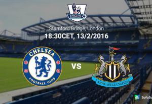 TRỰC TIẾP Chelsea vs Newcastle vòng 26 Premier League 2015/2016 0h30 ngày 14/2