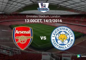 TRỰC TIẾP Arsenal vs Leicester vòng 26 Ngoại hạng Anh NHA 2015/2016 19h00 ngày 14/2