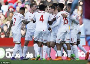 Video clip bàn thắng: Aston Villa 0-6 Liverpool (Vòng 26 Premier League 2015/16)