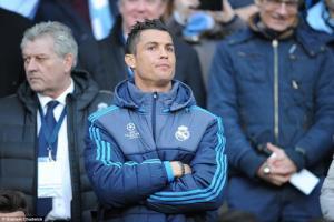 Ra sân ở trận gặp Man City, Ronaldo có thể lỡ Euro 2016