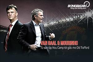 Van Gaal và Mourinho: Từ sân tập Nou Camp đến giấc mơ Old Trafford
