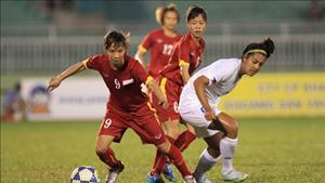 Nữ Việt Nam thắng đến ... 14-0 ở trận mở màn giải vô địch Đông Nam Á 2016