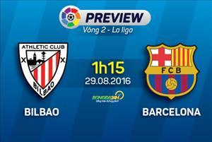 Bilbao vs Barca (1h15 ngày 29/8): Tiếp tục trò Play Station