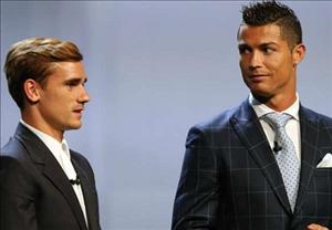 Simeone cay cú khi Griezmann xếp sau Ronaldo