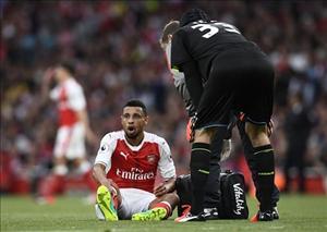Chấn thương của trụ cột Arsenal lạc quan hơn dự kiến