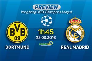 Dortmund vs Real Madrid (1h45 28/9): Kền kền gãy cánh