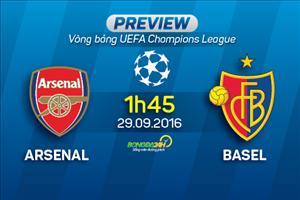Arsenal vs Basel (1h45 ngày 29/9): Cuộc chiến trong gia đình