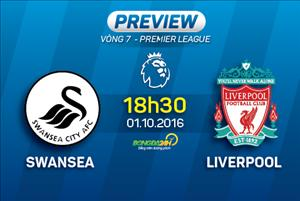 Swansea vs Liverpool: (18h30 ngày 01/10): Khó cản Lữ đoàn đỏ