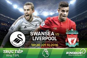 TRỰC TIẾP Swansea vs Liverpool 18h30 ngày 1/10 (NHA 2016/17)
