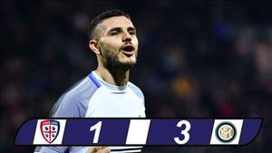 Cagliari 1-3 Inter Milan: Su tu dau dan Icardi dua Nerazzurri len ngoi dau