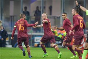 Tổng hợp: Inter Milan 1-3 AS Roma (Vòng 26 Serie A 2016/17)