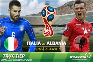 TRỰC TIẾP Italia 1-0 Albania (H1): De Rossi mở tỷ số trên chấm 11m