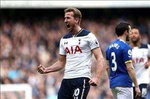 Kane canh bao cac doi thu sau cu dup vao luoi Everton