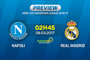 Giai ma tran dau Napoli vs Real Madrid 02h45 ngay 8/3 (Champions League 2016/17)
