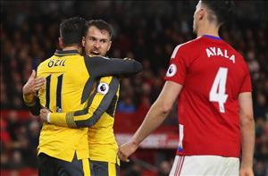 Nhung thong ke dang chu y sau tran dau Middlesbrough 1-2 Arsenal