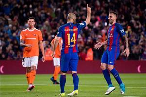 Thống kê Barca 7-1 Osasuna: Lần đầu cho Mascherano