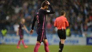 Cay cú với Real Madrid, Gerard Pique tố trọng tài chống lại Barcelona