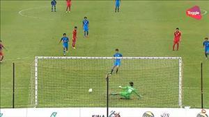Tổng hợp: U22 Lào 0-2 U22 Singapore (Sea Games 29)