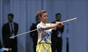 Màn trình diễn đoạt HCV Sea Games 29 của Phương Giang (Wushu)