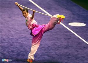 Bài thi Thương thuật nữ giúp Dương Thúy Vi đoạt HCV Sea Games 29