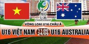 LINK XEM TRỰC TIẾP U16 Việt Nam vs U16 Australia 11h00 ngày 24/9 (VL U16 châu Á 2018)